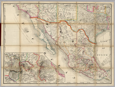 (South West section, Rand, McNally & Co.'s New Shippers' Railroad Map of the United States. Scale: 18 miles to one inch).