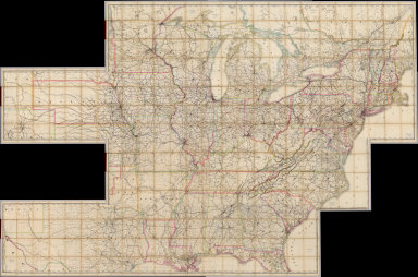 Composite: Railroad Map of the United States.