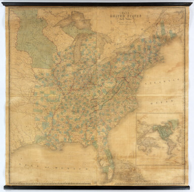 Map of the United States Of North America, By David H. Burr. Geographer to the House of Representatives of the U.S. . Entered ... 12th Jan. 1842, by David H. Burr ... District of Columbia.