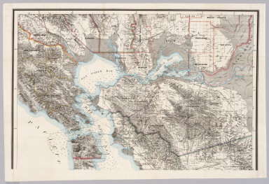 (North Sheet) State Geological Survey Of California. J.D. Whitney, State Geologist. Map Of The Region Adjacent To The Bay Of San Francisco. 1873. The Coast, Rancho, Township and Section Lines from Materials furnished by the U.S. Coast Survey and the U.S. Surveyor General's Office, the Topography chiefly from Original Surveys by C.F. Hoffman ... Julius Bien, Lith.