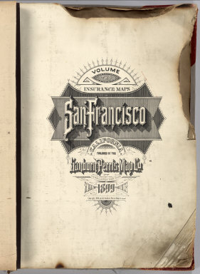 1905 SF Sanborn map title page