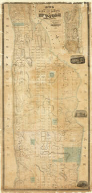 Map Of That Portion Of The City And County Of New - York North Of 50th St. Surveyed & Drawn by R.A. Jones, C.E. Published by M. Dripps, 103 Fulton St. N.Y. 1851. (inset) Westchester County.