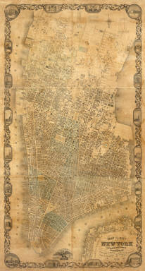 Map of the City of New York Extending Northward to Fiftieth St. Surveyed and drawn by John F. Harrison C.E. Published by M. Dripps...1852.