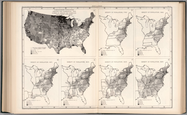 Plate Population ForeignBorn Population Swedish And - Us population density map 1790