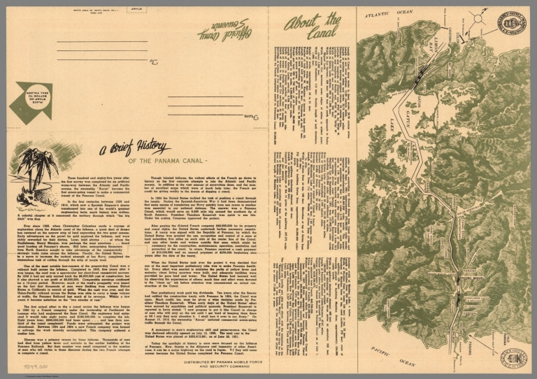 Text: A Brief History of the Panama Canal.