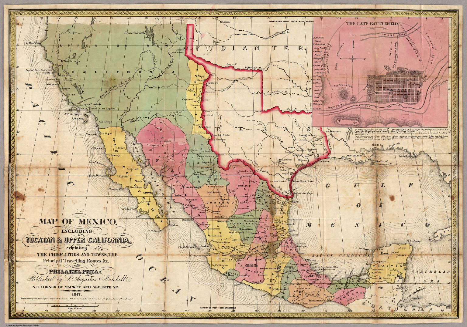 Map Of Mexico Including Yucatan Upper California David – Map of Mexico Cities and Towns