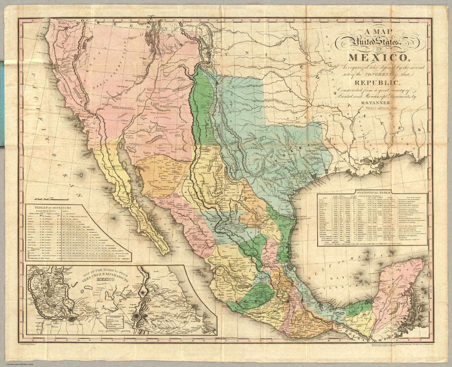 Map Of The United States Of Mexico David Rumsey Historical Map – Map United States and Mexico