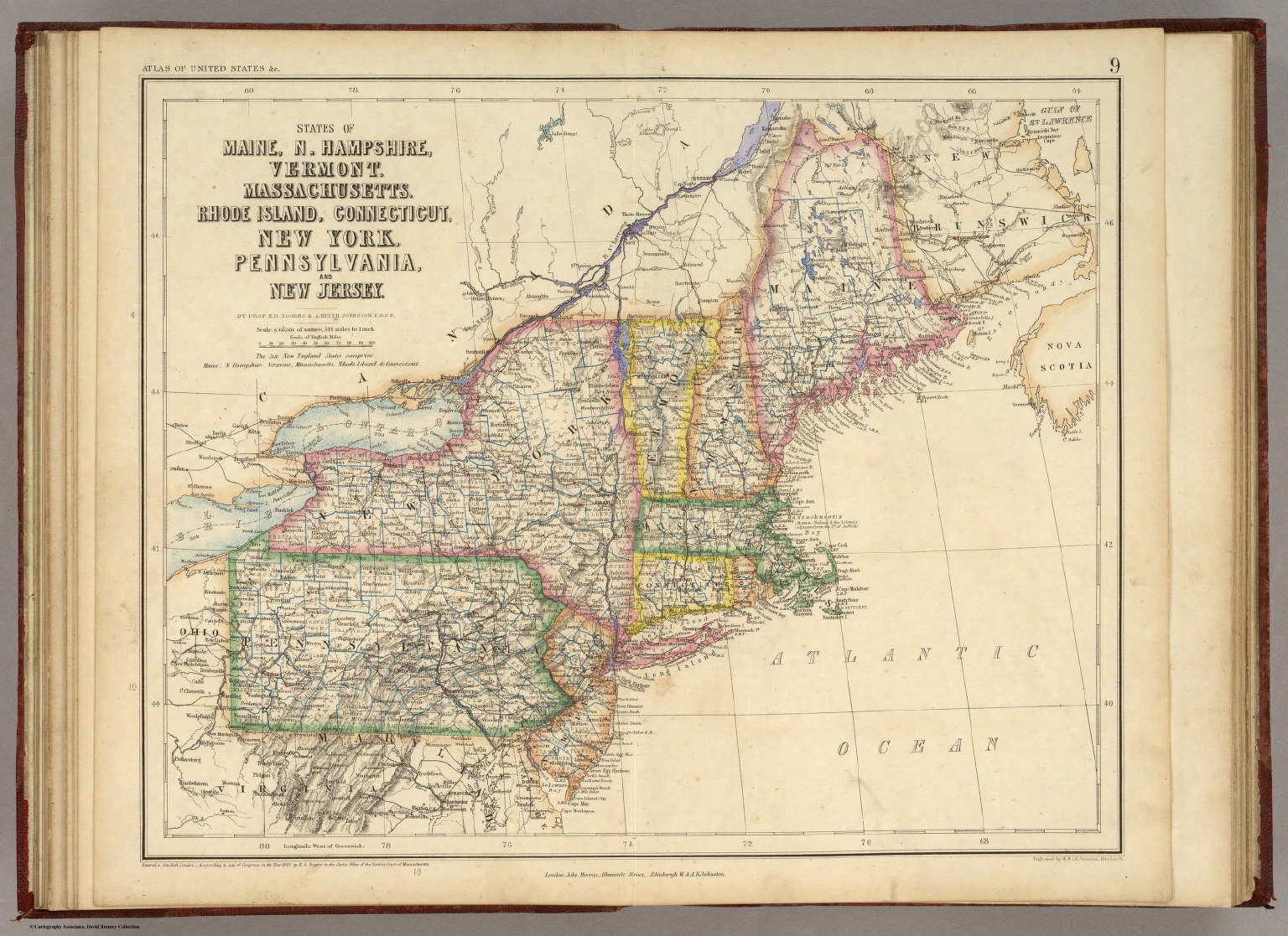 Of Maine N Hampshire Vermont Massachusetts Rhode Island - Map of vermont and new york