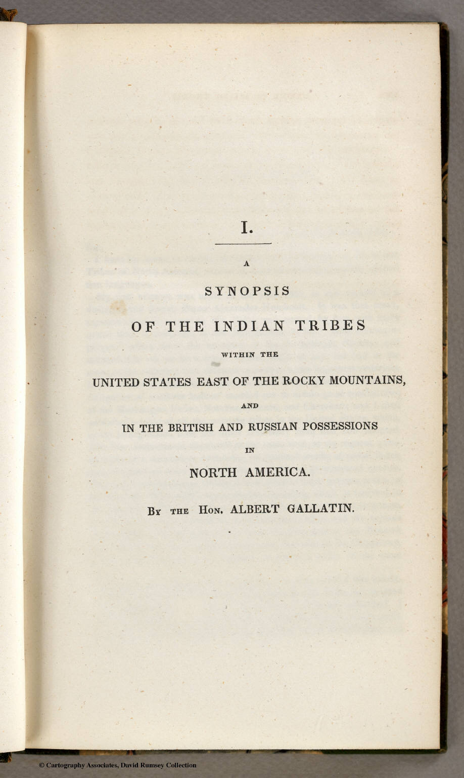 Title Page Synopsis Of The Indian Tribes Within The United States