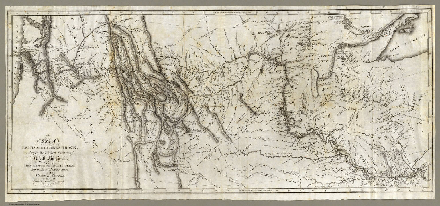 Map Of Lewis And Clark S Track Across The Western Portion Of North America Lewis Meriwether Clark William