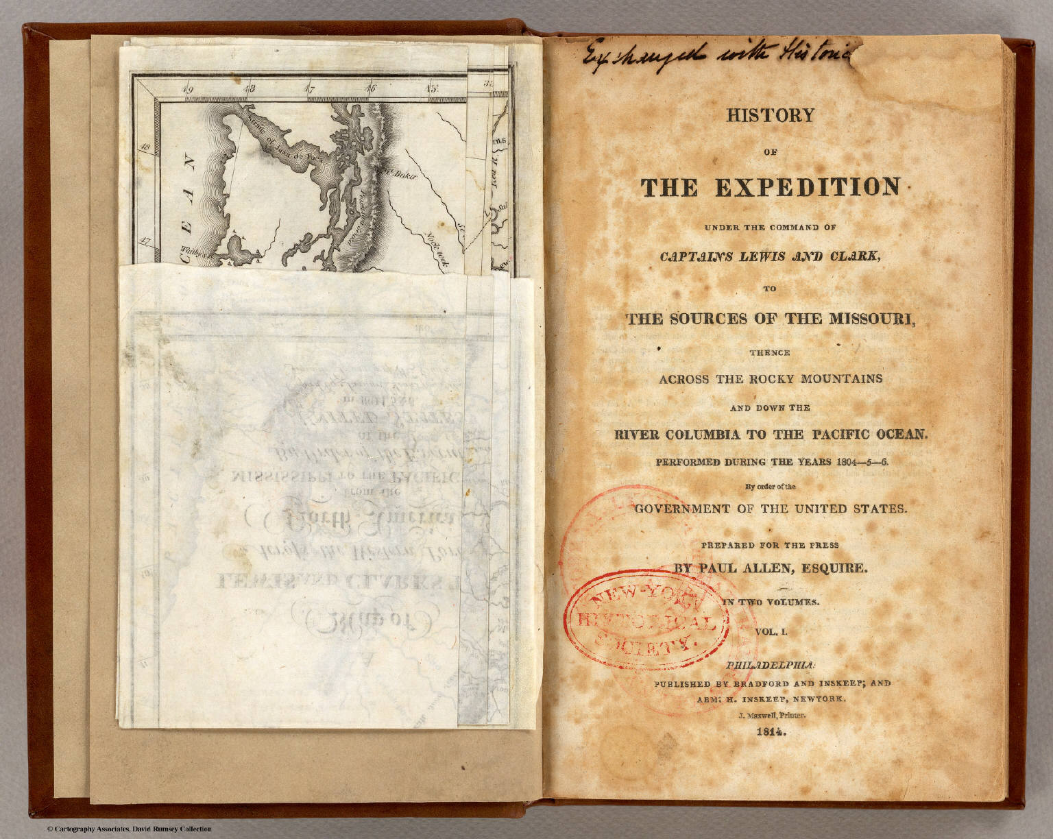 Title Page History Of The Expeditionof Captains Lewis And - Map of the united states before lewis and clark