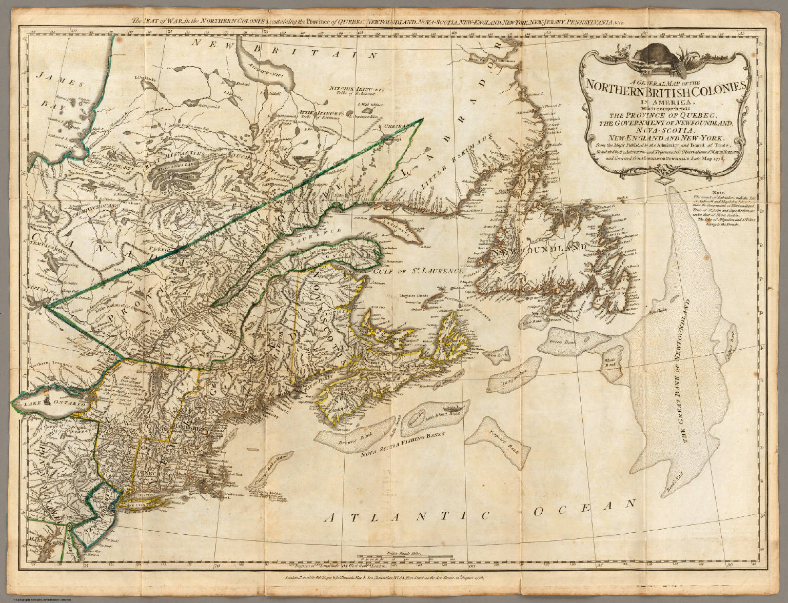 A General Map of the Northern British Colonies in America. - David ...