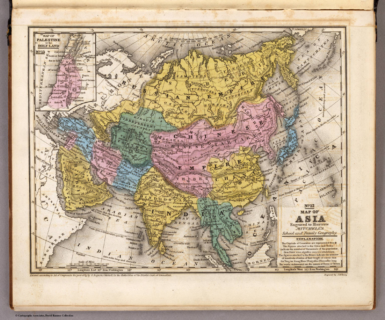 Map of Asia David Rumsey Historical Map Collection – Full Map of Asia
