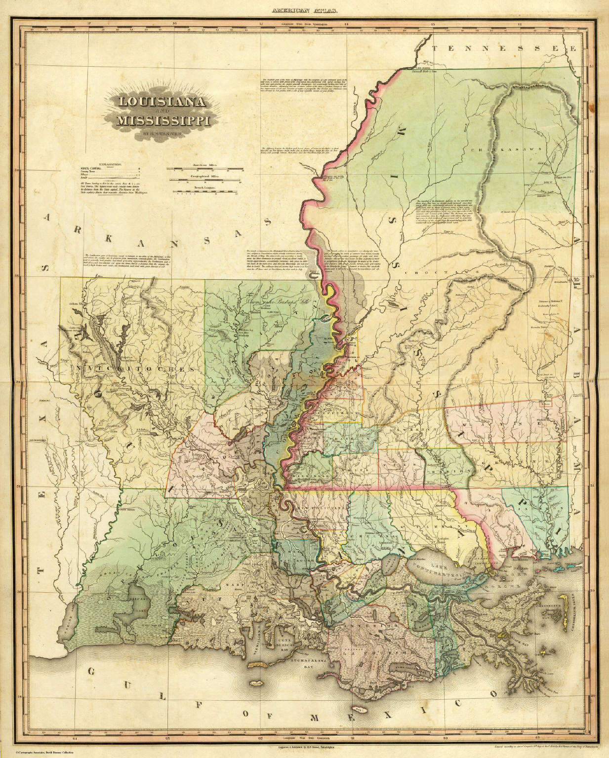 louisiana and mississippi david rumsey historical map collection
