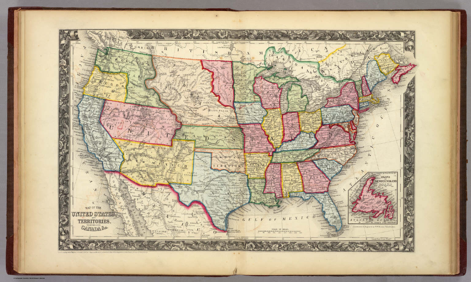 Of The United States And Territories Mitchell Samuel Augustus - Map of us 1860