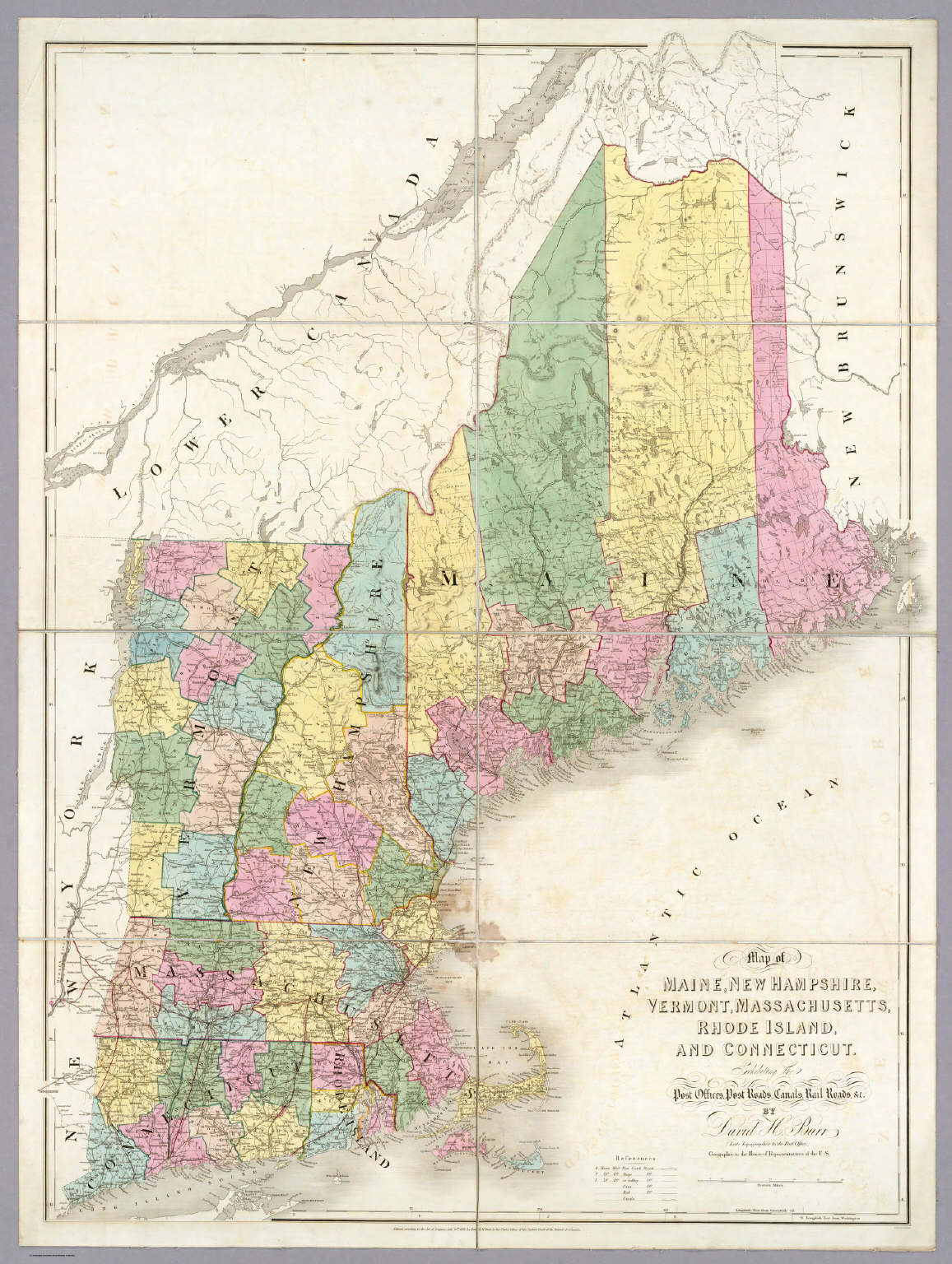 Map Of Massachusetts New Hampshire And Maine