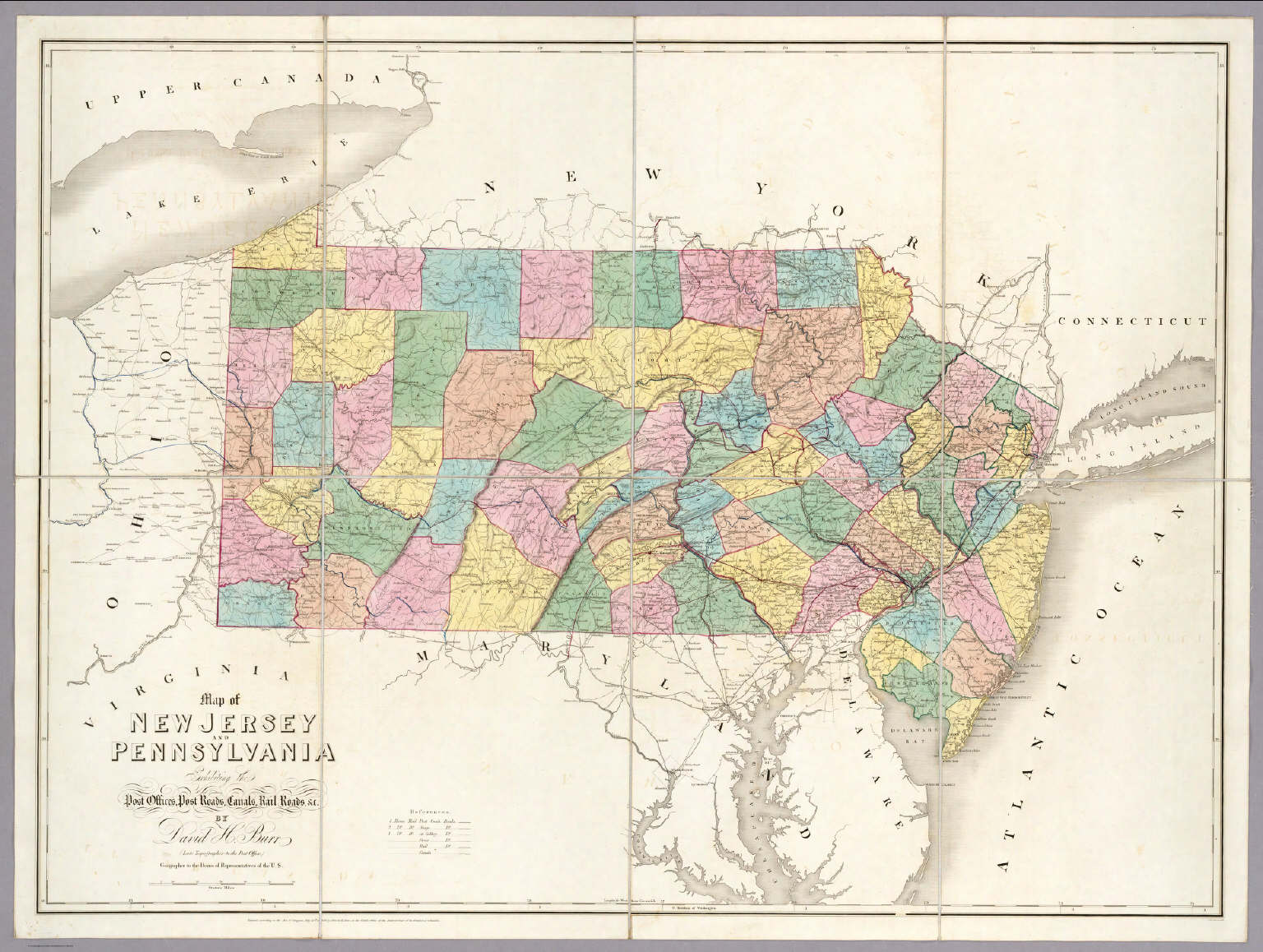 New Jersey Pennsylvania Map