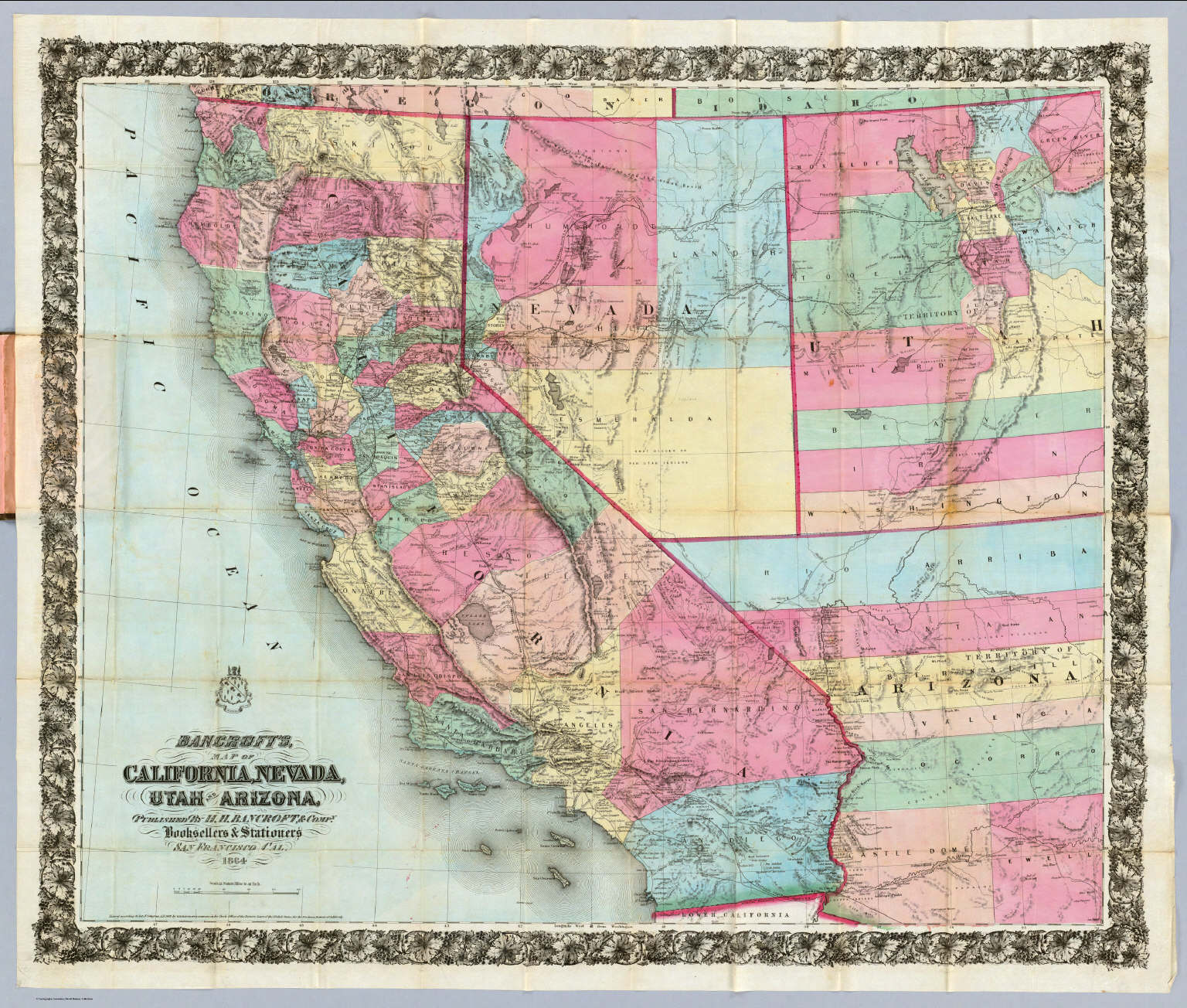 Map Of California Nevada And Arizona  Deboomfotografie