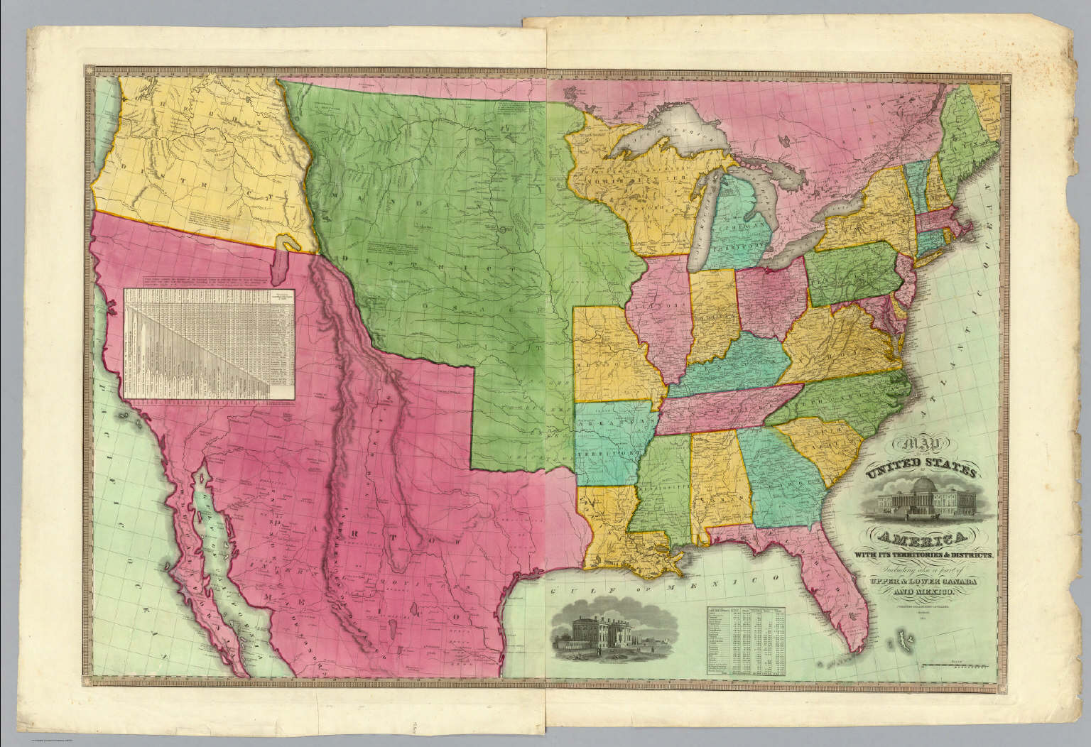 Of The United States Of America Barber BB Willard A - Us map in 1848