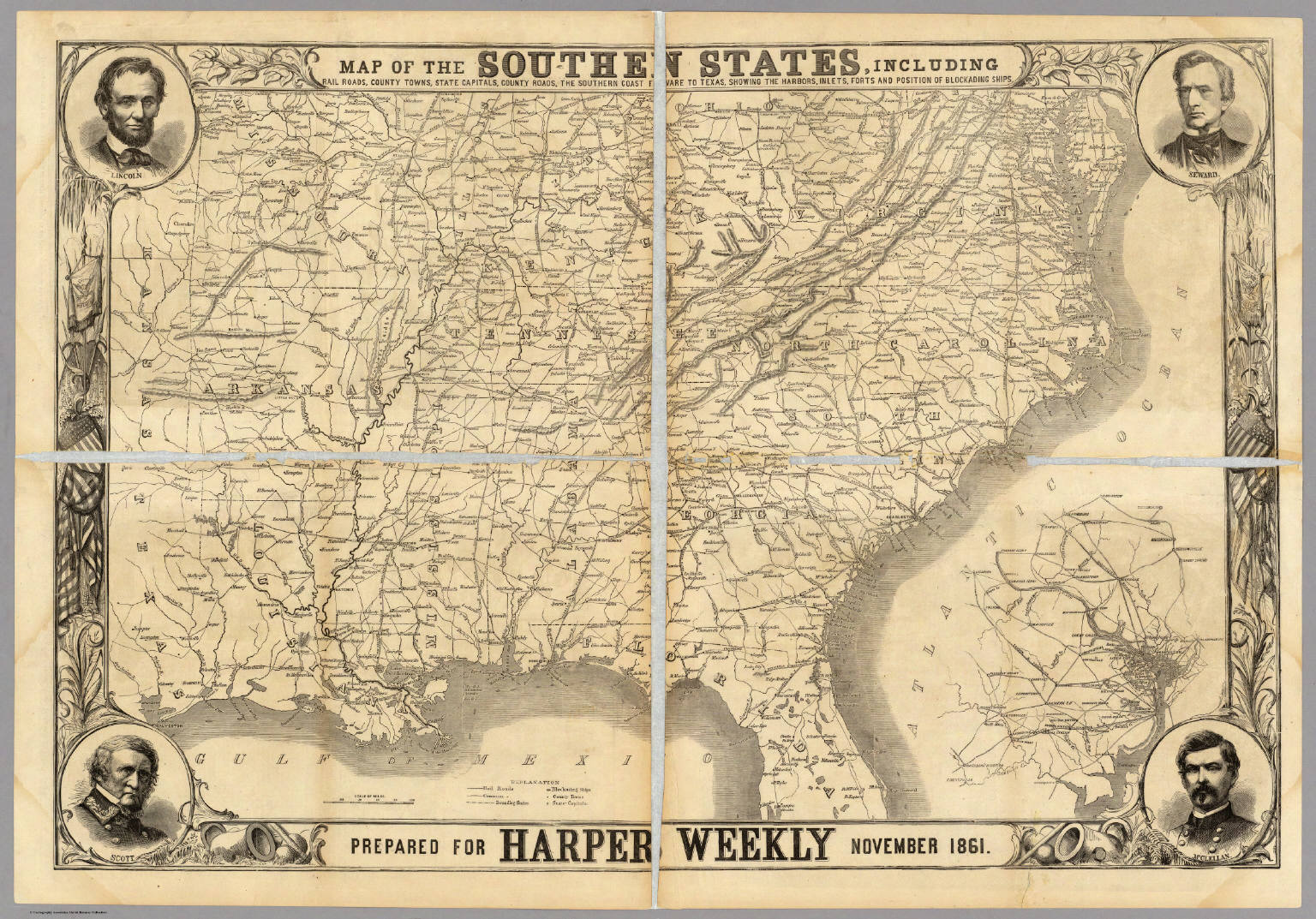 Map Of The Southern States