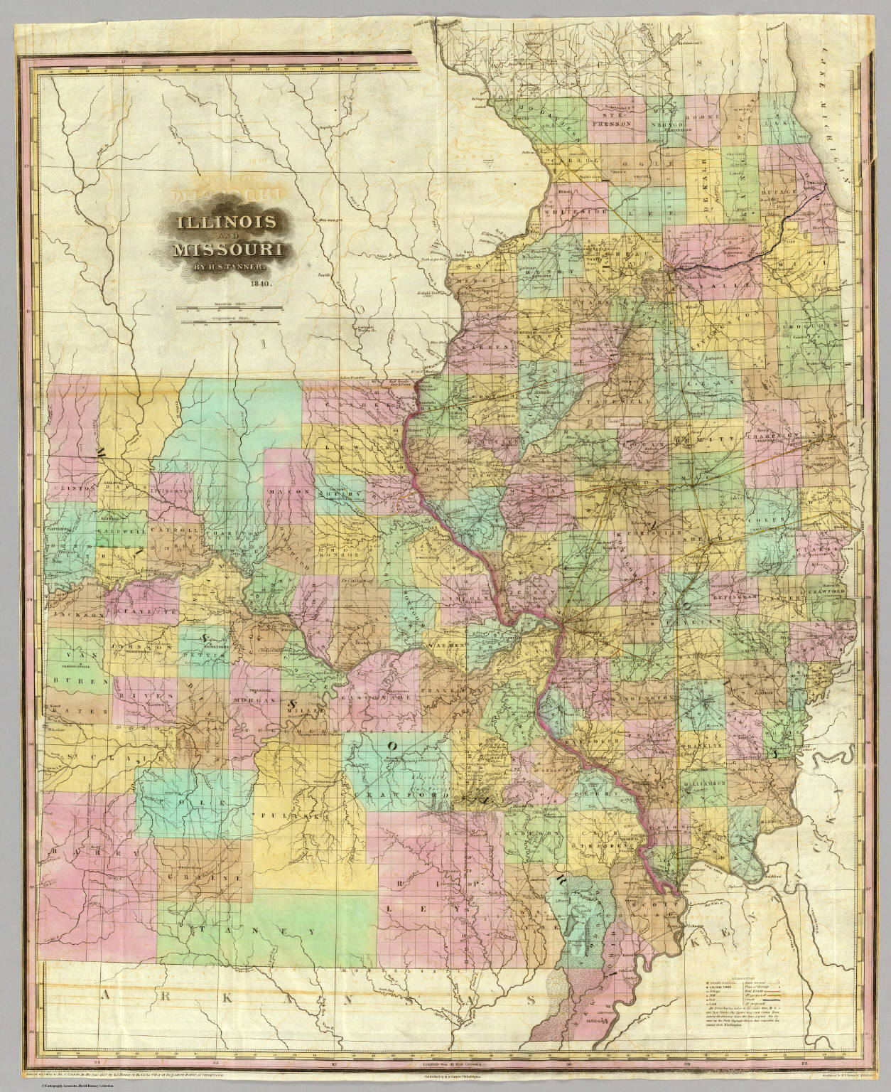 And Missouri Tanner Henry S - Map of illinois and missouri
