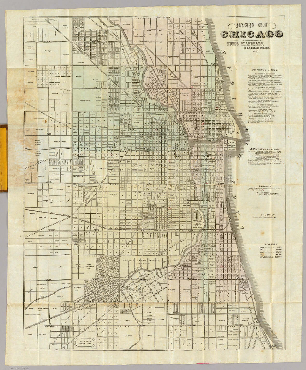 Map Of Chicago David Rumsey Historical Map Collection - Chicago map of