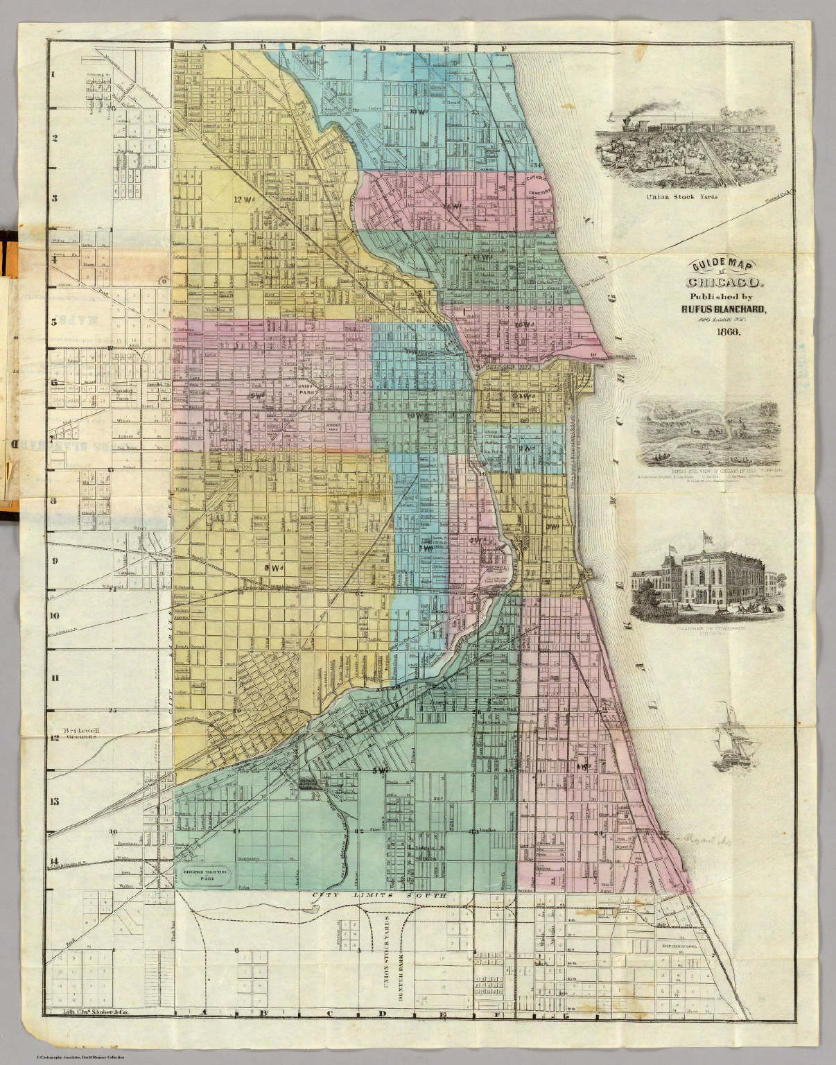 Map Of Chicago  Blanchard Rufus - Chicago map of