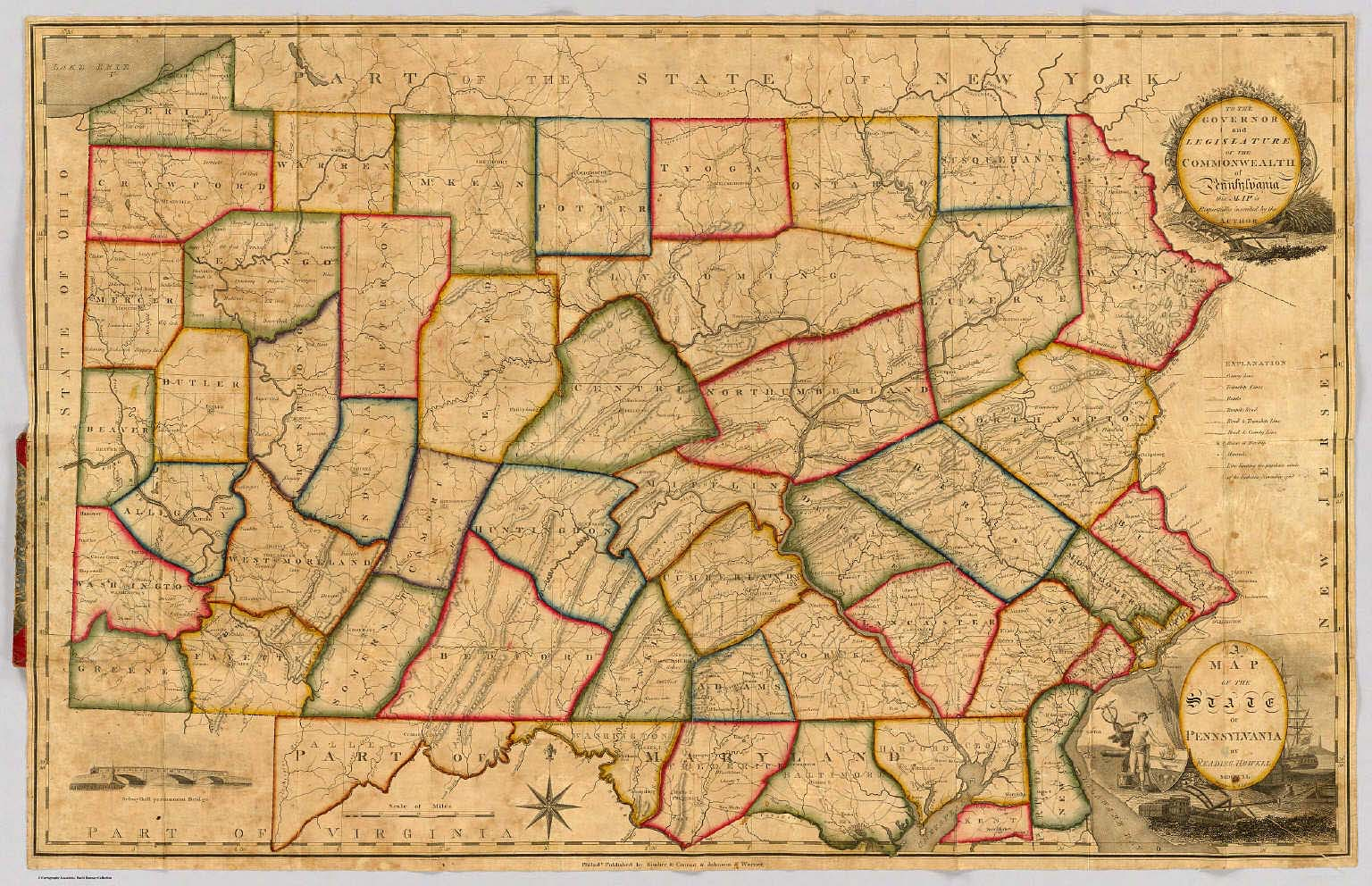 A Map Of The State Of Pennsylvania. - David Rumsey Historical Map ...
