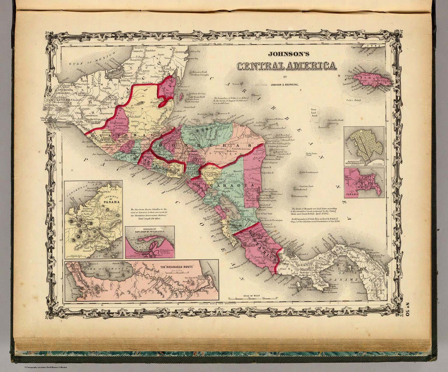 Central America David Rumsey Historical Map Collection - Map of america 1860