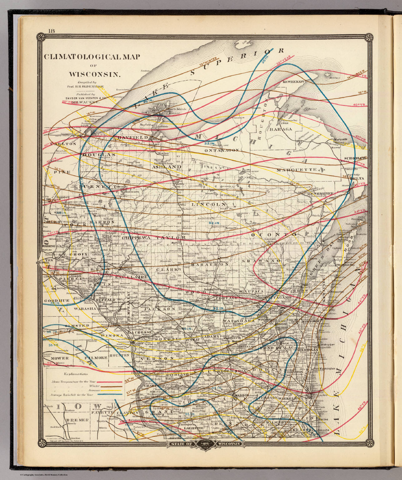 Climatological Map Of Wisconsin David Rumsey Historical Map - A map of wisconsin