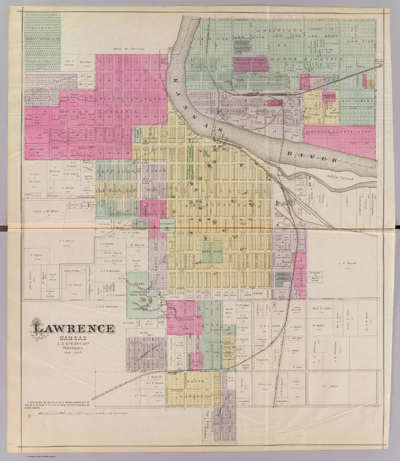 lawrence kansas david rumsey historical map collection