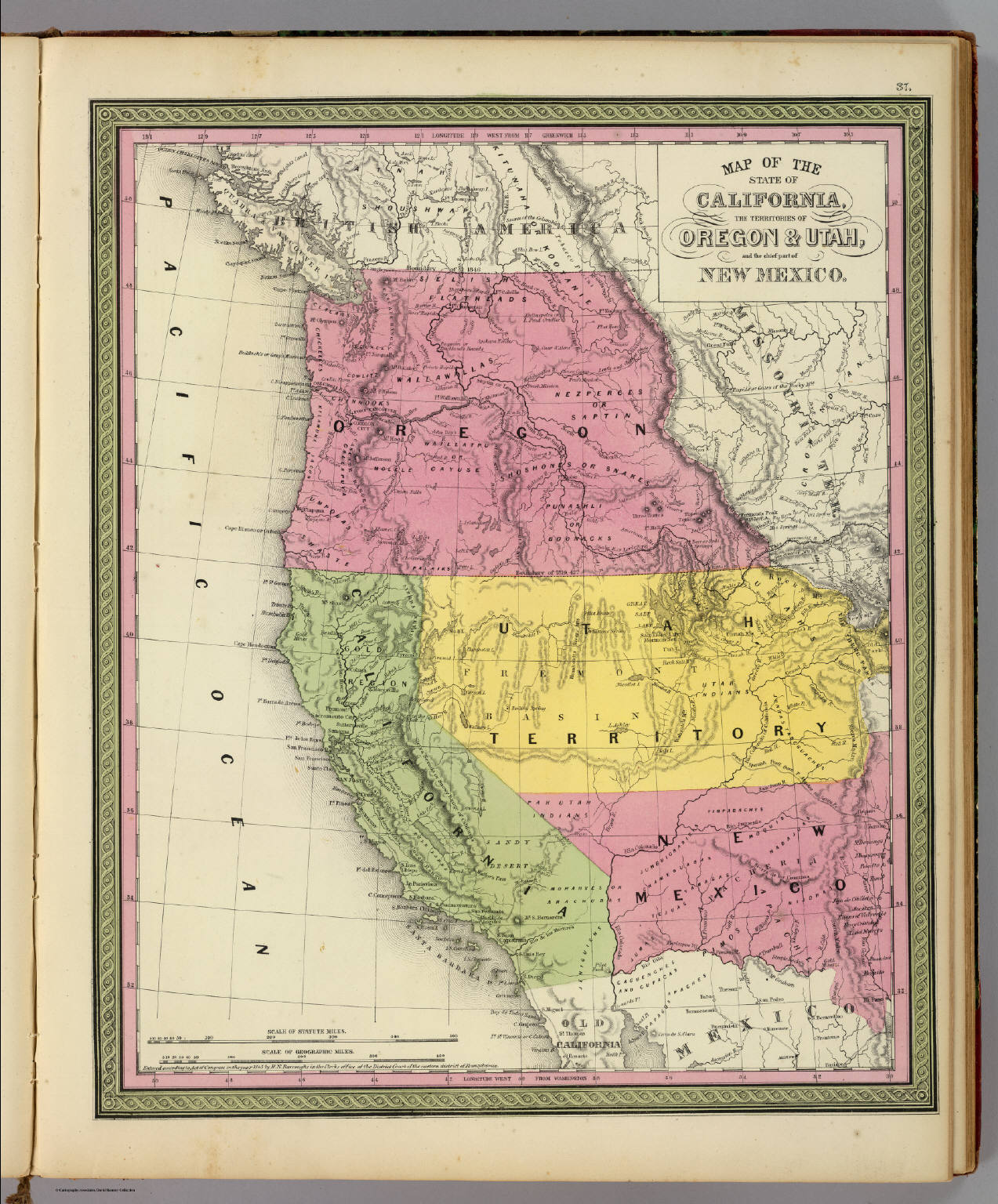 Map Of California 1850  You Can See A Map Of Many Places
