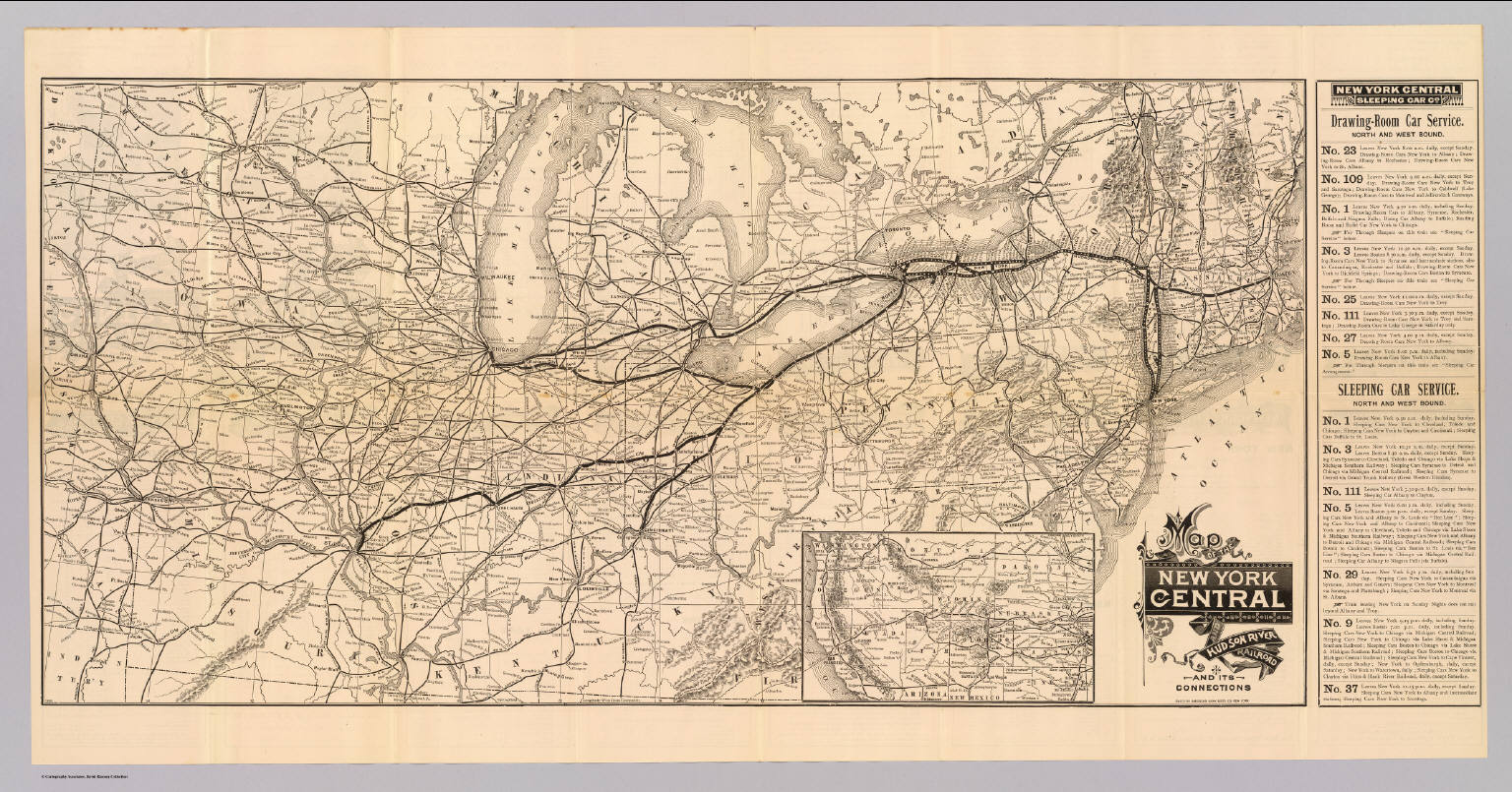 Map NY Central  Hudson R RR David Rumsey Historical Map - New york map hudson river