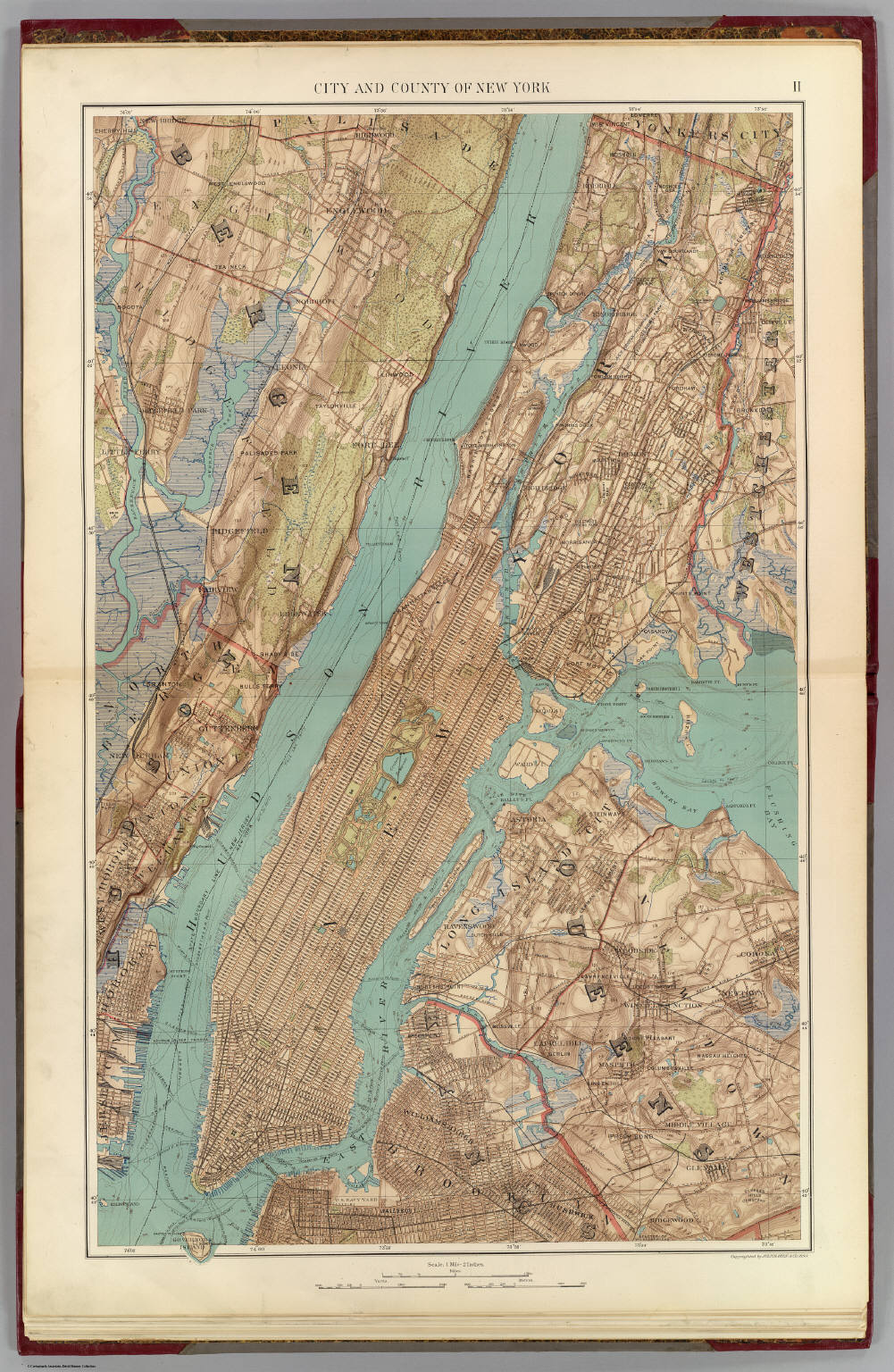 New York City County David Rumsey Historical Map Collection - New york city map 1950