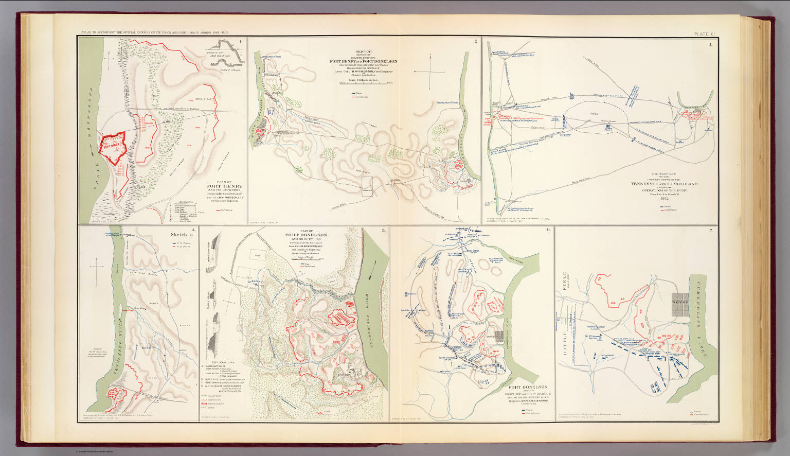 Forts Henry Donelson David Rumsey Historical Map Collection - Fort donelson on us map
