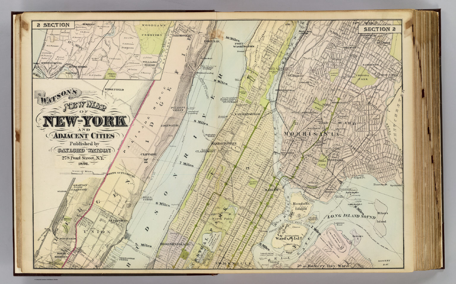 2 New York etc David Rumsey Historical Map Collection – Street Map Nyc