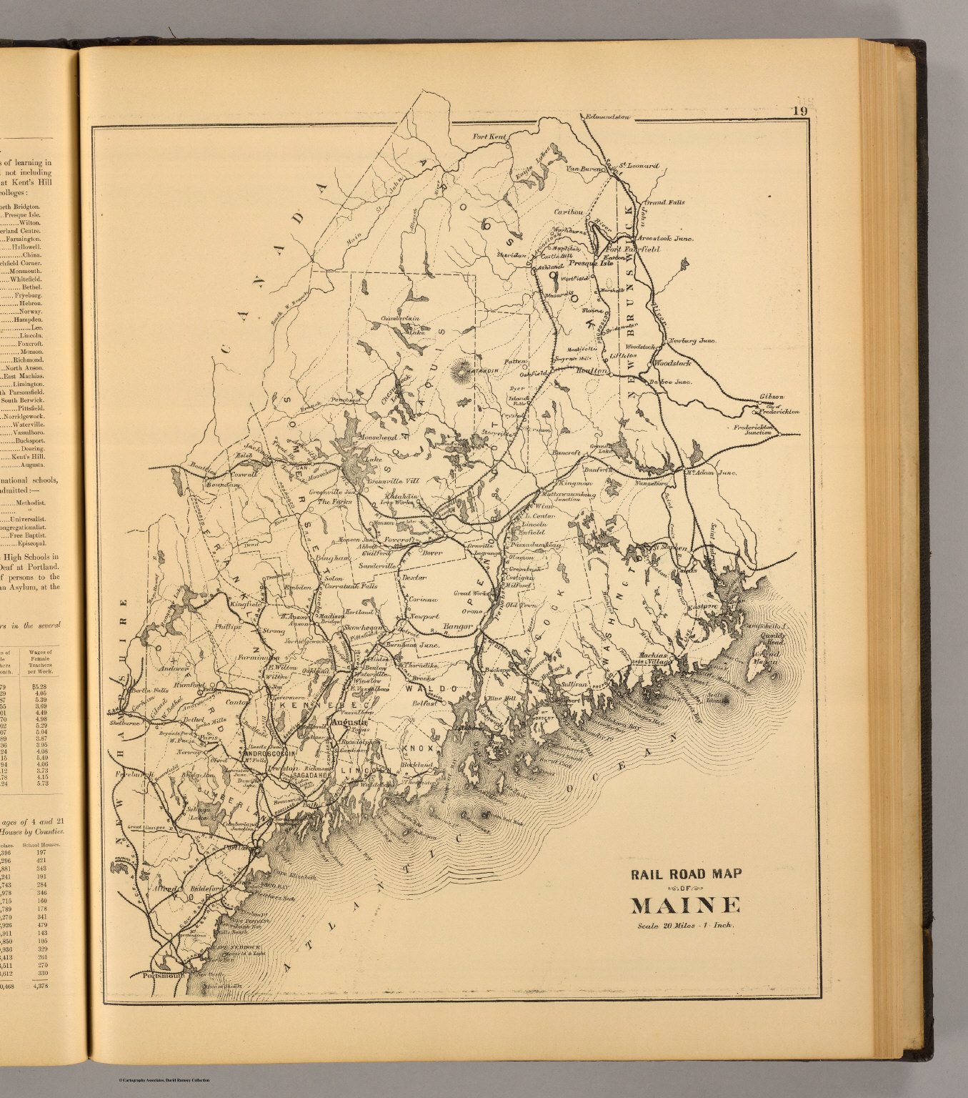 Railroad Map Of Maine David Rumsey Historical Map Collection - Railway map usa 1890
