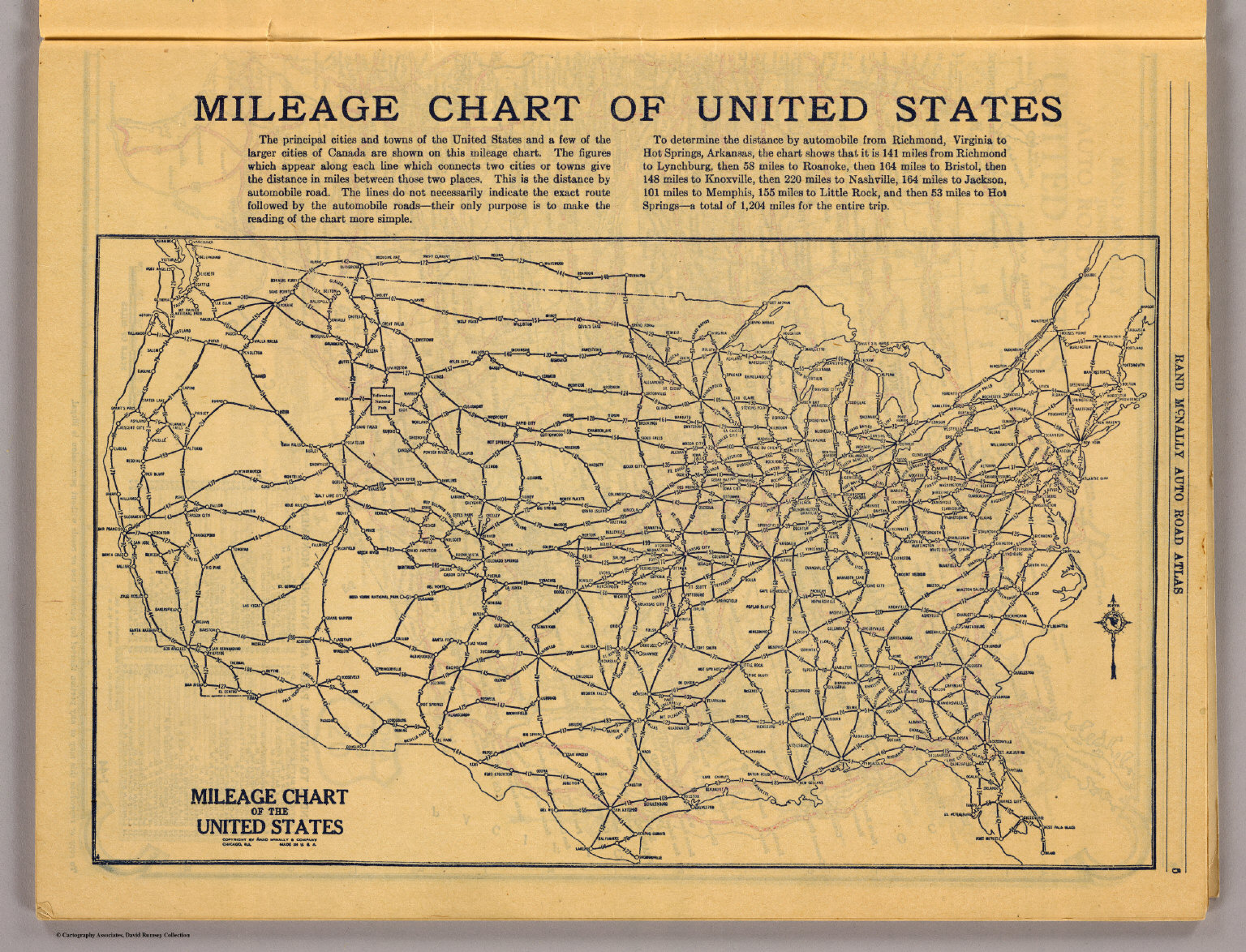 United States Mileage Chart Chart - Usa road map distances