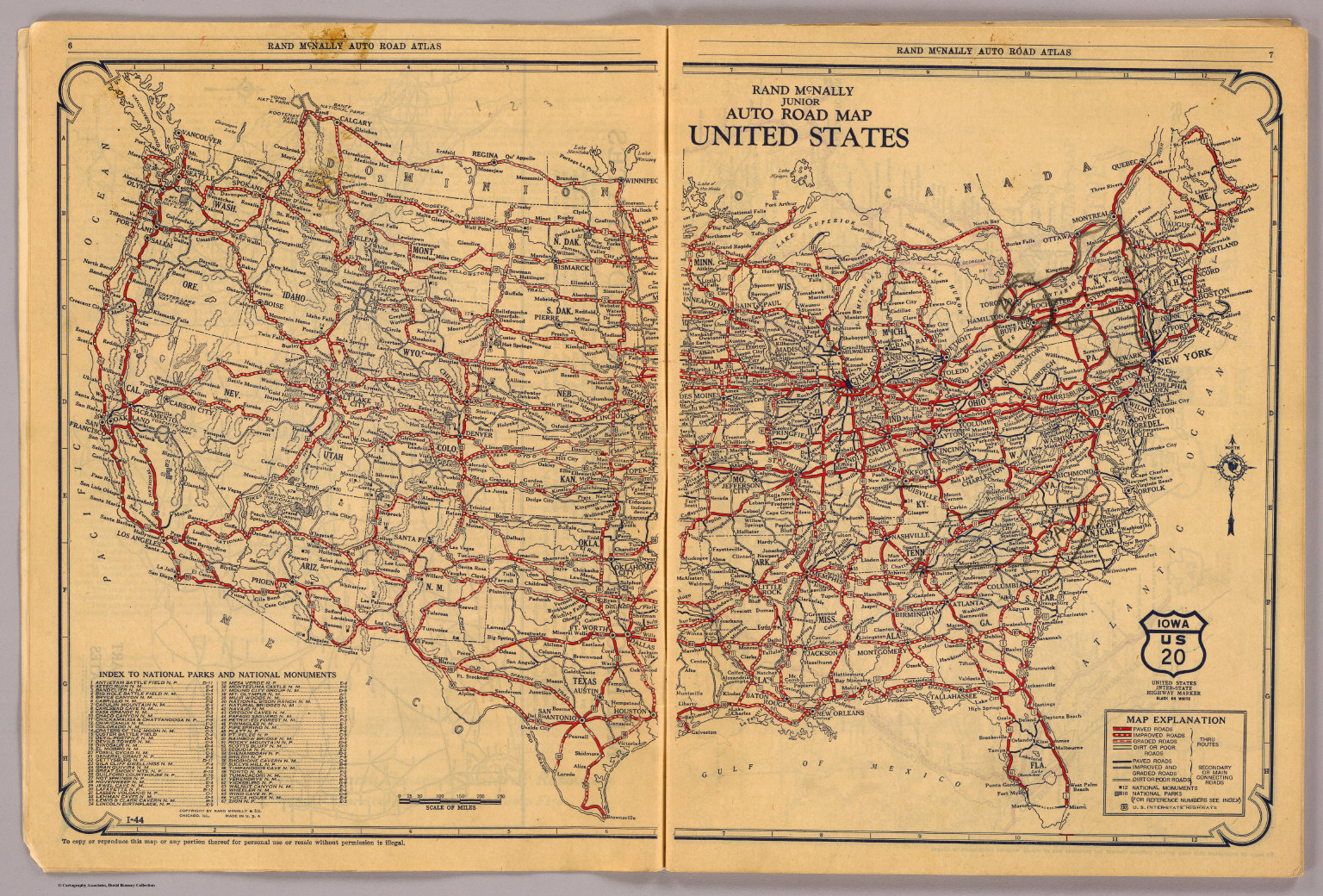 PreInterstate US Highway System Map USA Mappery FileUnited States - Road atlas of usa