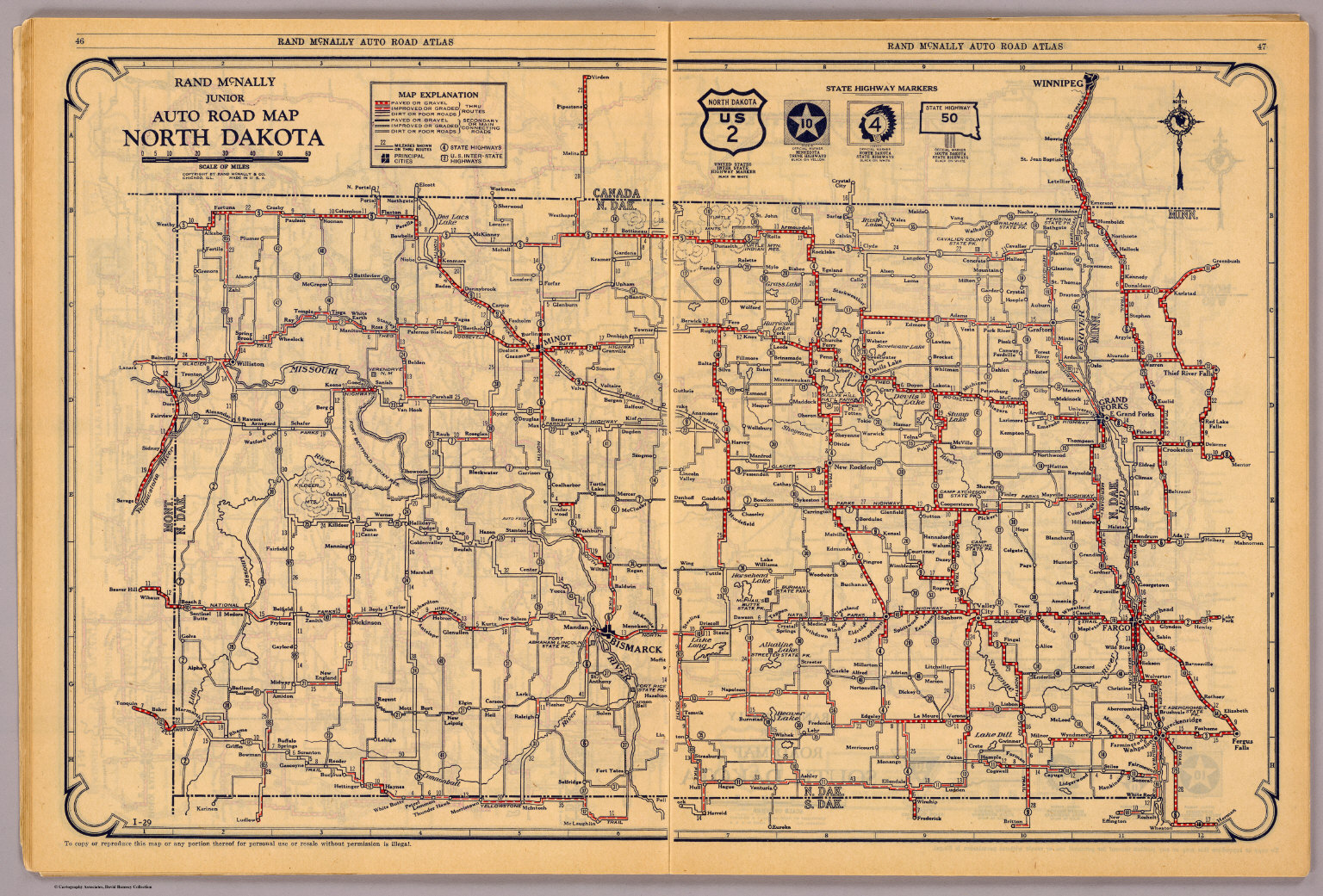 North Dakota David Rumsey Historical Map Collection – Road Map Nd