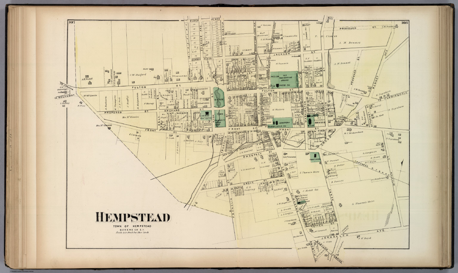 Hempstead, Town of Hempstead, Queens Co., L.I. - David Rumseyhempstead town