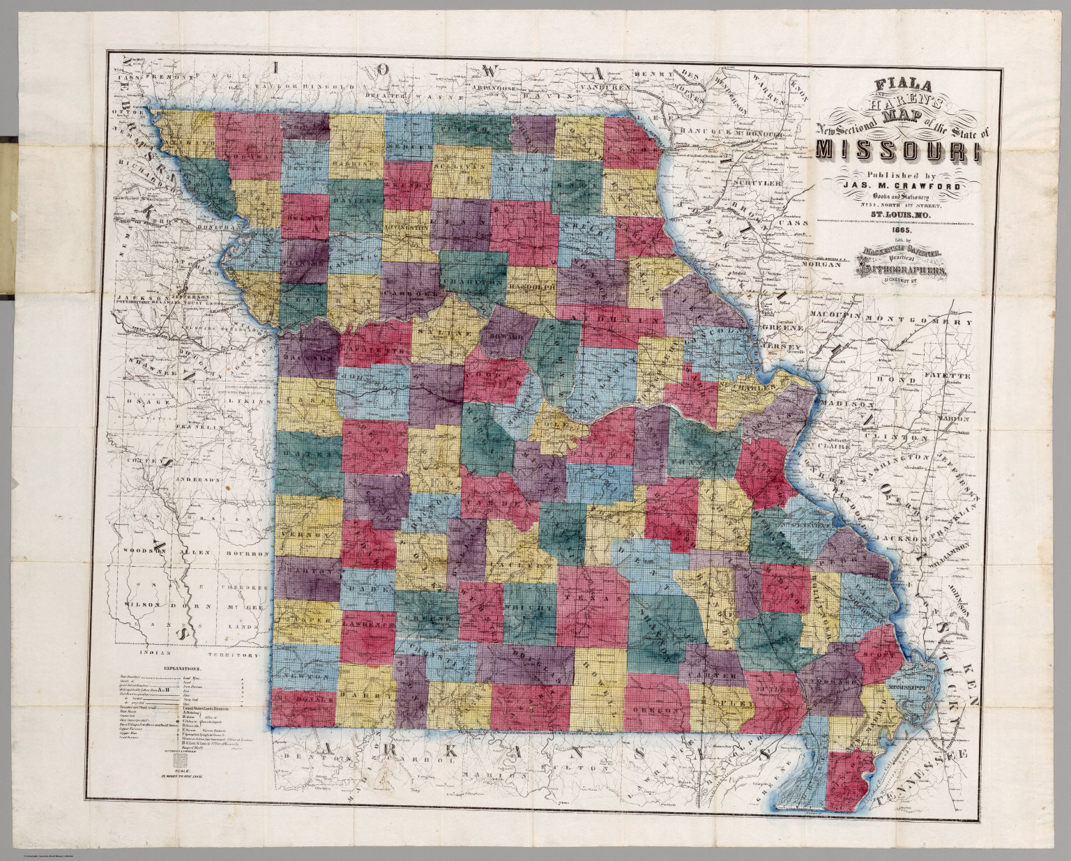 Map Of The State Of Missouri David Rumsey Historical Map Collection - State of missouri map