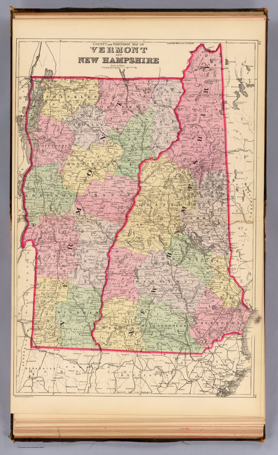 Vermont NH David Rumsey Historical Map Collection - Map of vermont and new hampshire