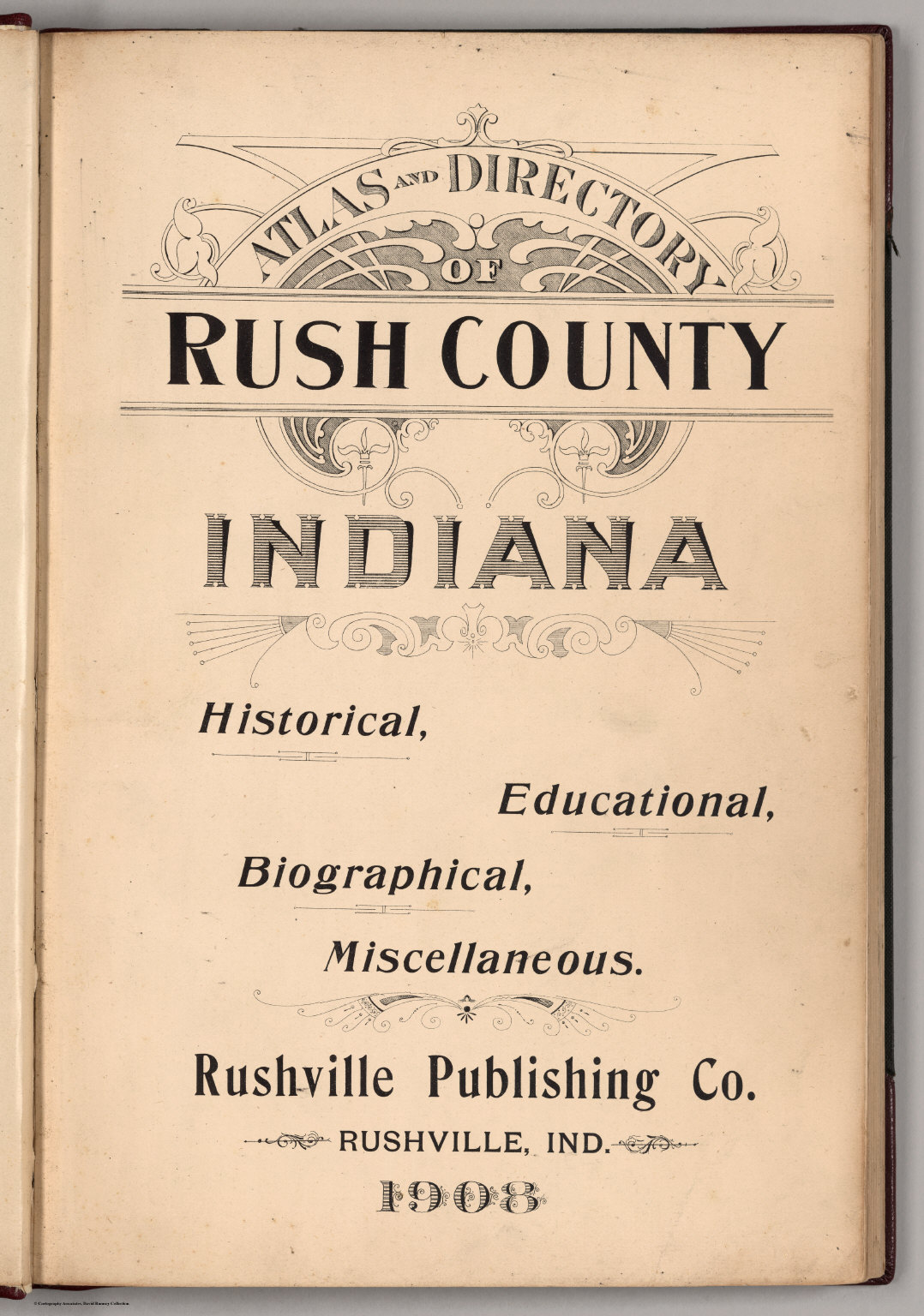 Indiana rush county - Title Page Atlas And Directory Of Rush County Indiana