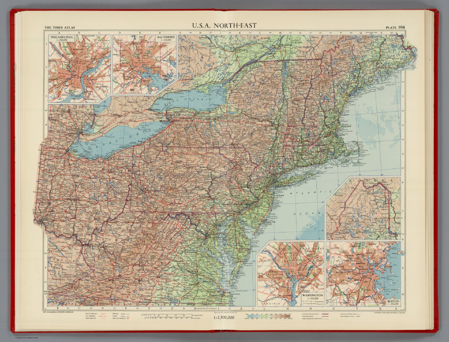 USA NorthEast Plate 104 Vol V David Rumsey Historical Map – Map Usa North East
