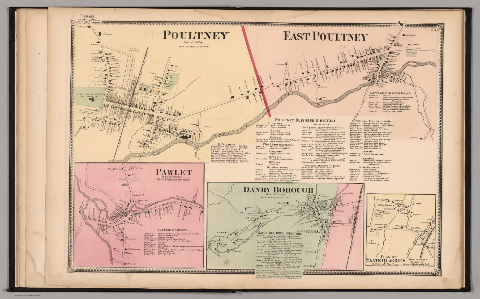 Poultney, Town of Poultney. East Poultney. Pawlet, Town of Pawletdanby town