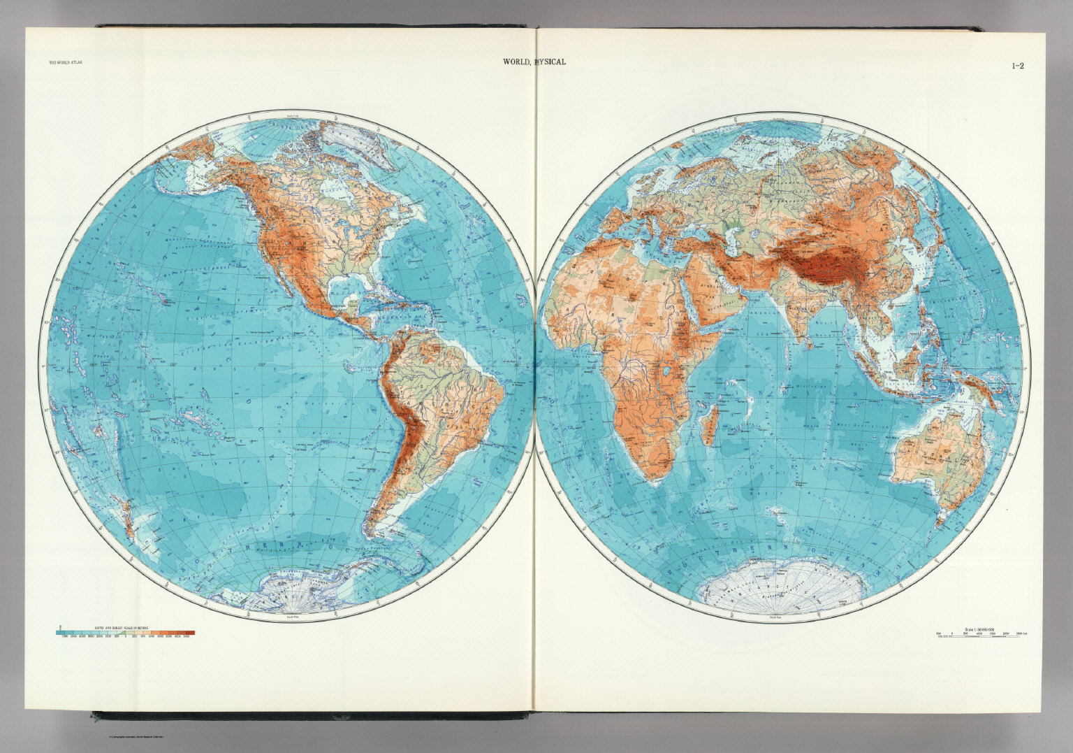 12 World Physical The World Atlas David Rumsey Historical – The World Map Atlas