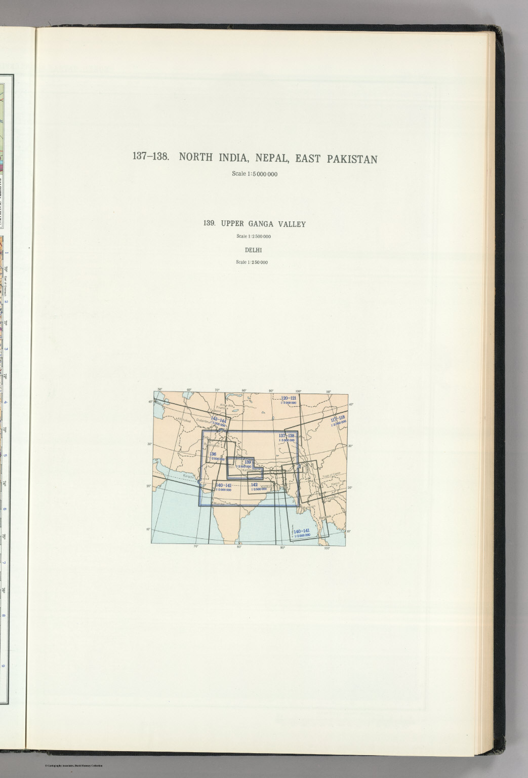 Map Title Page 137-138 North India Nepal East Pakistan 139  picture wallpaper image