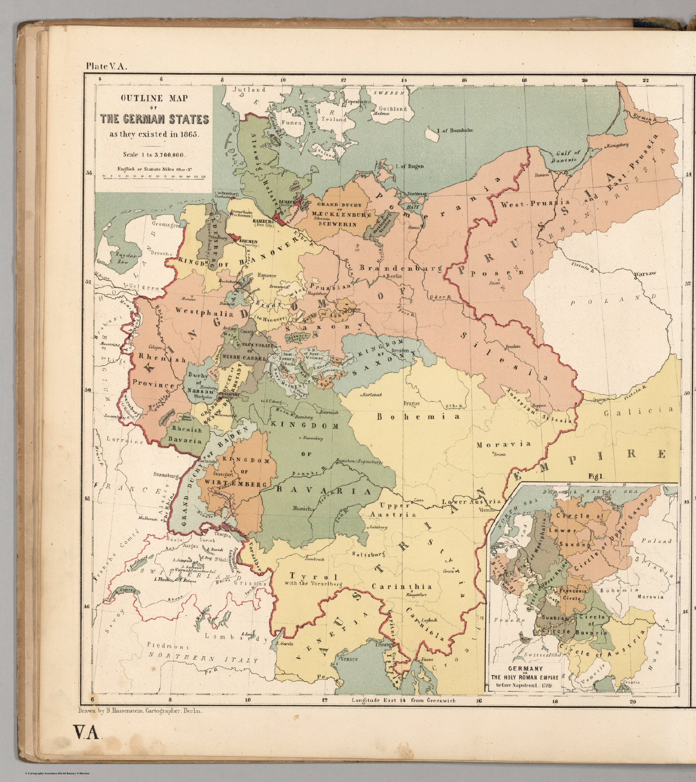 German States Map Map of the german states