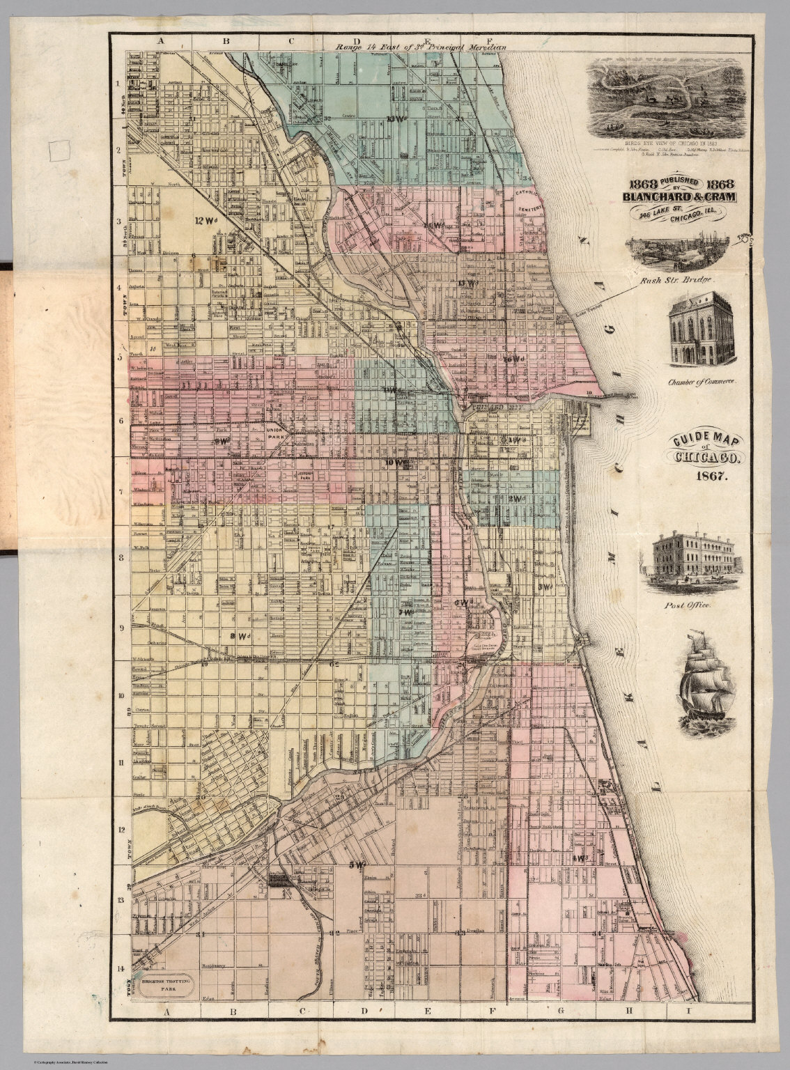 Guide Map Of Chicago  David Rumsey Historical Map Collection - Chicago map of